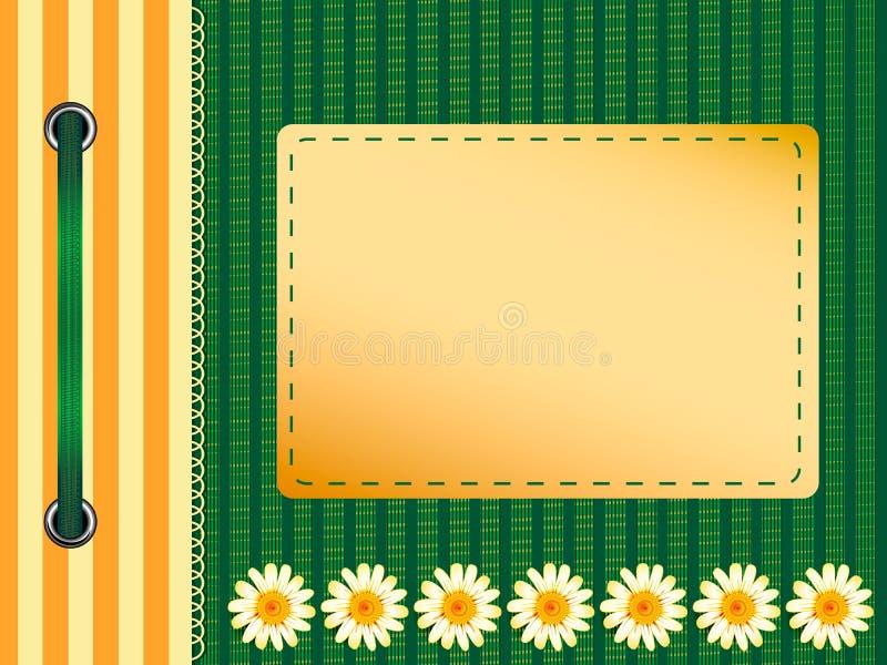 De dekking van het album. vector illustratie