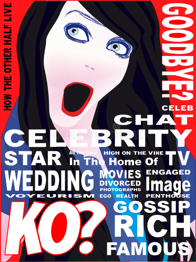 De Dekking van het beroemdheidstijdschrift vector illustratie