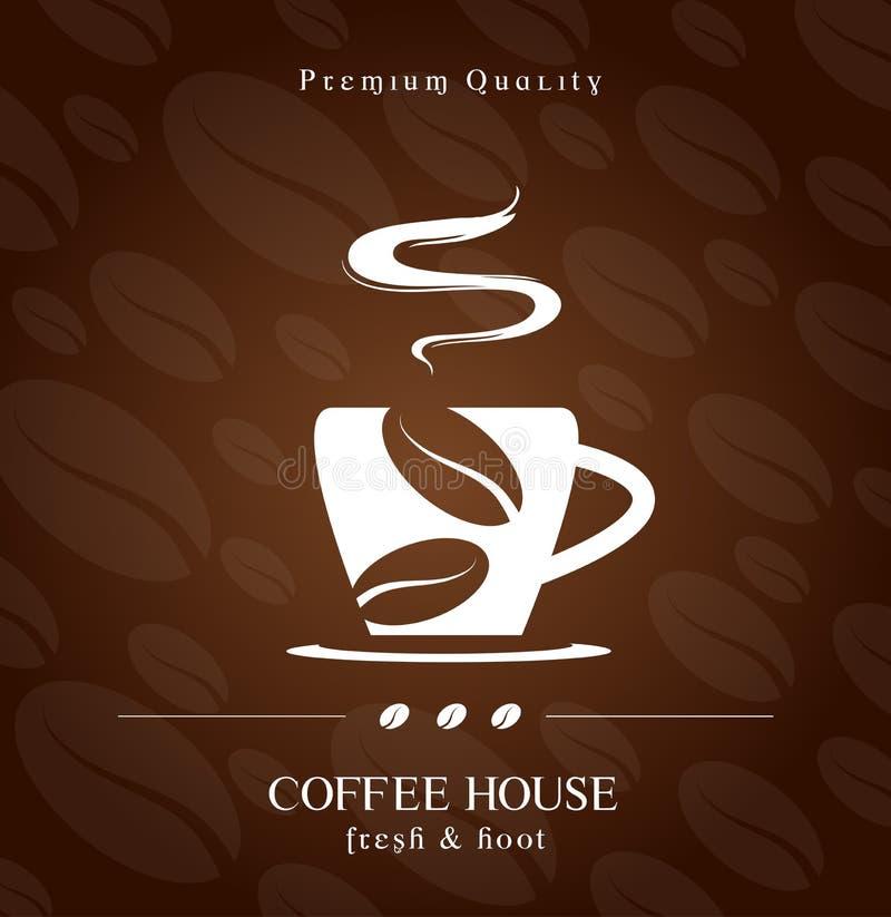 De dekking van het koffiehuis royalty-vrije illustratie
