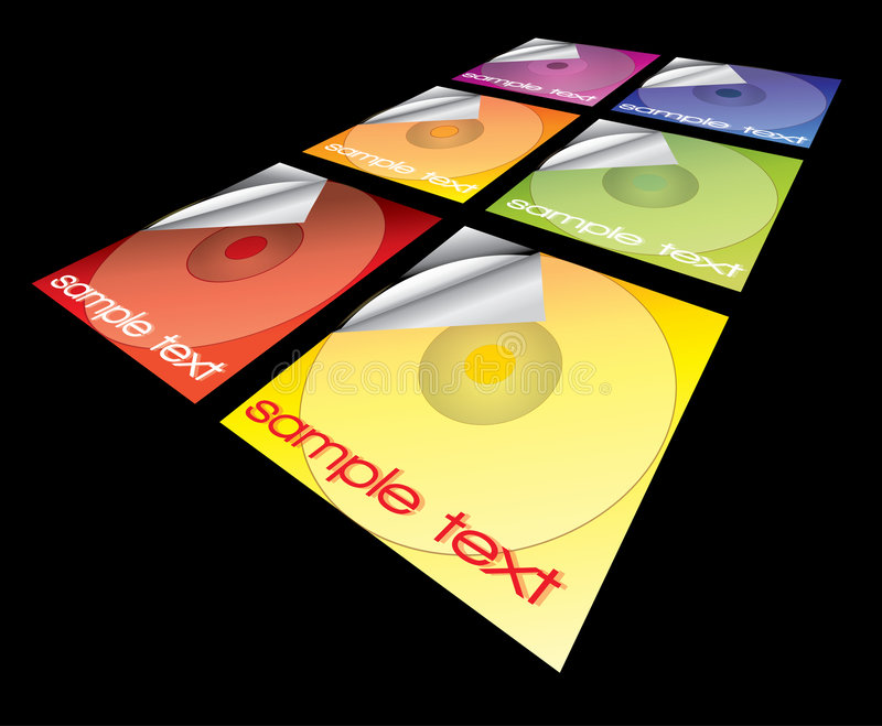 De dekkingsinzameling van CD royalty-vrije illustratie