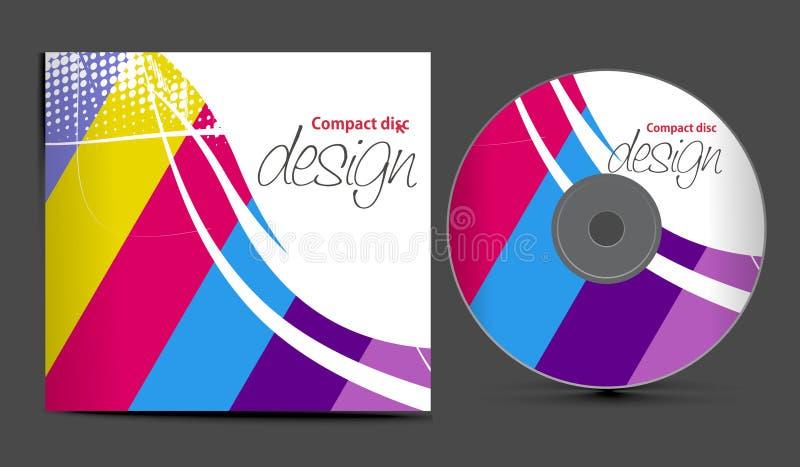 De dekkingsontwerp van CD stock illustratie