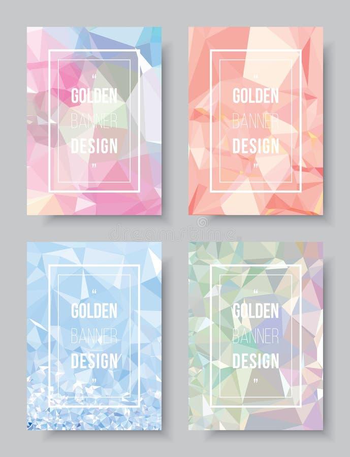 De dekkingsontwerpsjabloon van het pastelkleur schittert de abstracte boek, de witte lay-out van de manifestatietekst CMYK-drukbr stock illustratie