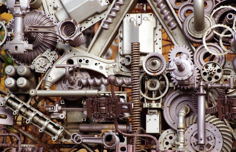 De delen en de stukken van de machine stock foto