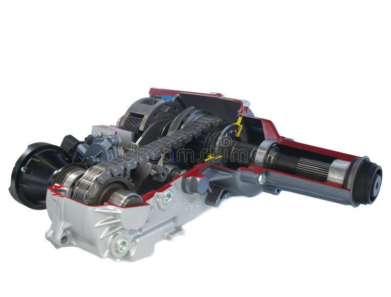 De delen van de auto: Het geval van de overdracht - elektrische verschuiving stock foto's