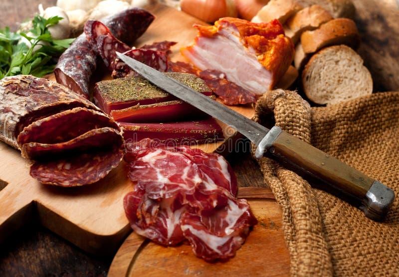 De delicatessen van het vlees stock foto's