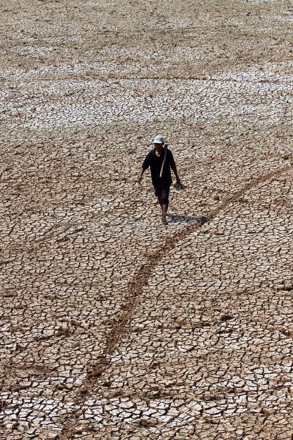 De Delinganreservoirs lijden aan droogte stock foto's