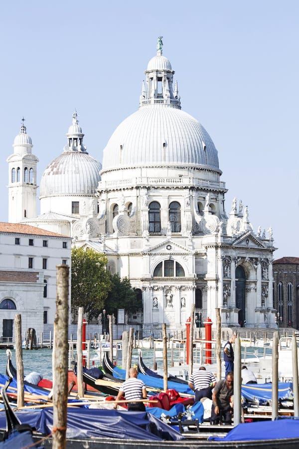 De dellaBegroeting van Santa Maria van de Basiliek in Veneti? royalty-vrije stock fotografie