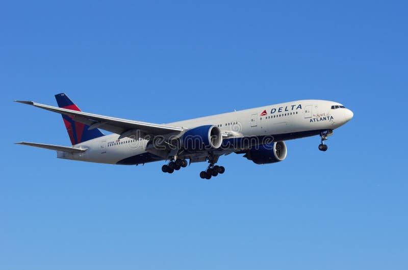 ` De Delta Air Lines l'esprit du ` d'Atlanta photos libres de droits