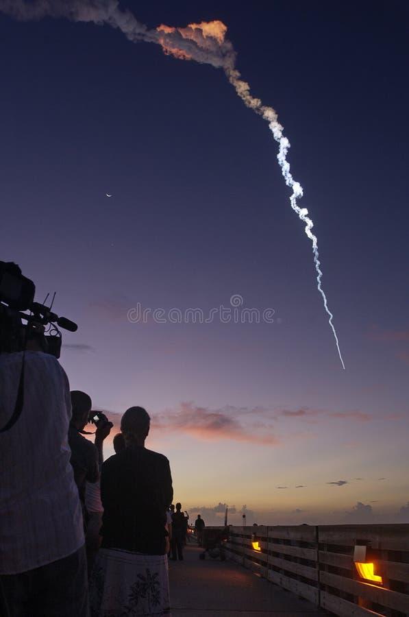 De delta II Lancering van de Raket stock foto