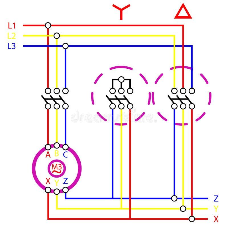De deltaaansluting van de ster vector illustratie