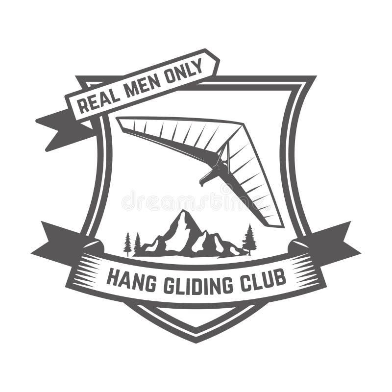 De deltavliegenclub verzinnebeeldt malplaatje Ontwerpelement voor teken, kenteken, t-shirt, affiche vector illustratie