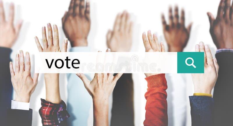 De Democratie Vrijwilligersconcept van de stemcampagne royalty-vrije stock afbeeldingen
