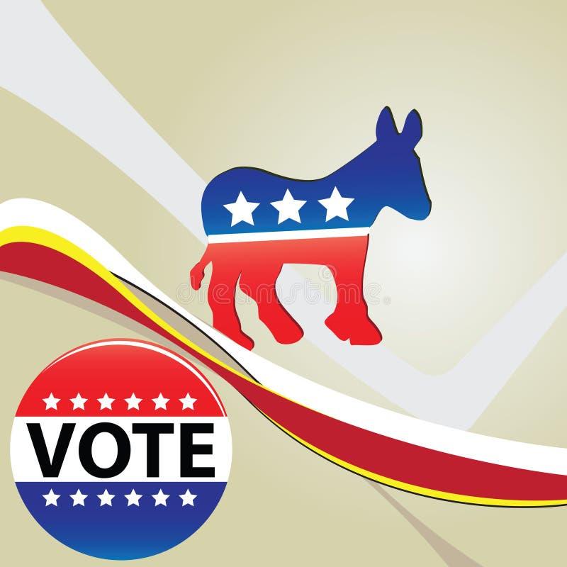 De Democratische Partij van het symbool vector illustratie