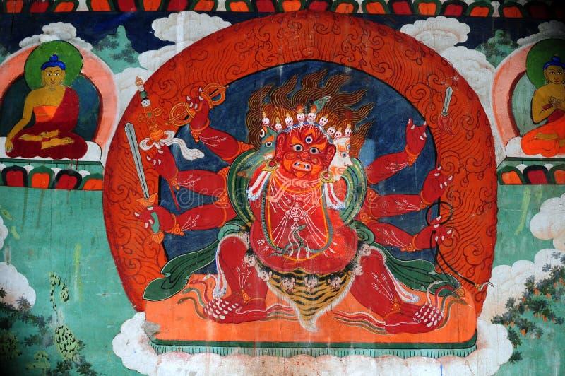 De demon van de beschermer in Erdenezuu stock foto's