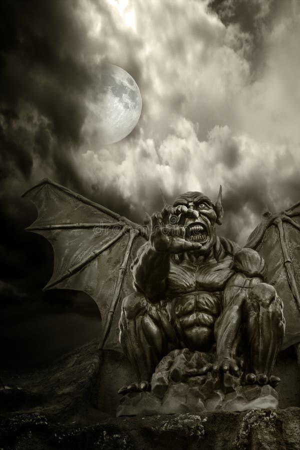 De demon van de nacht stock afbeeldingen