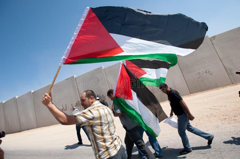 De Demonstratie van de anti-muur, al-Walaja royalty-vrije stock afbeelding