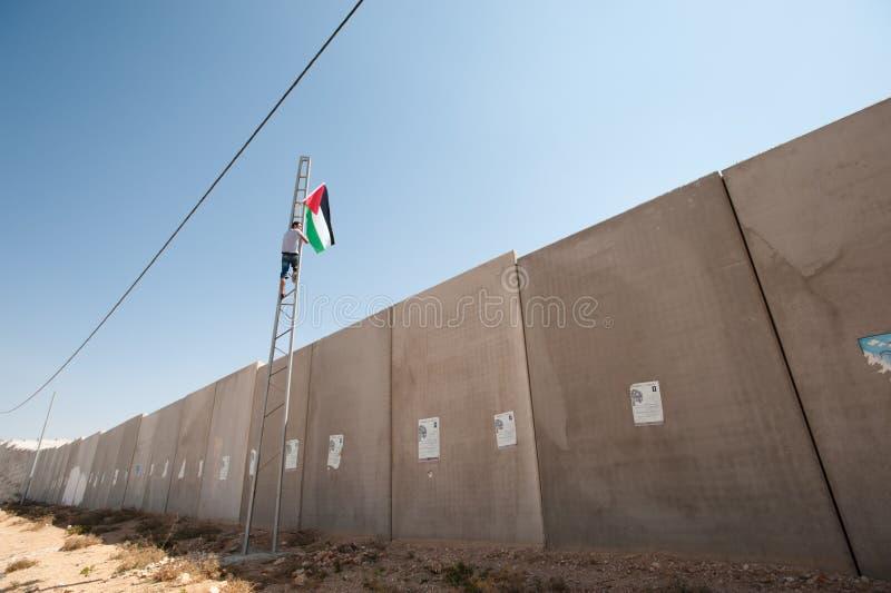 De Demonstratie van de anti-muur, al-Walaja stock afbeeldingen