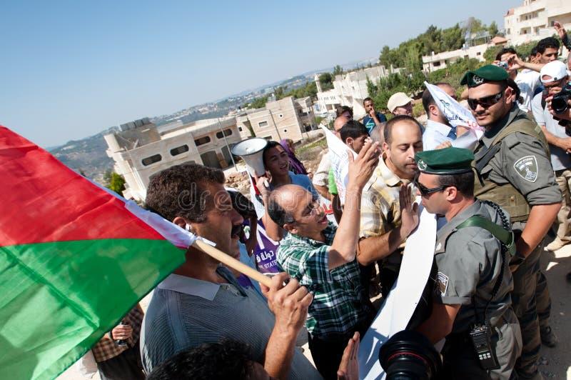 De Demonstratie van de anti-muur, al-Walaja royalty-vrije stock afbeeldingen