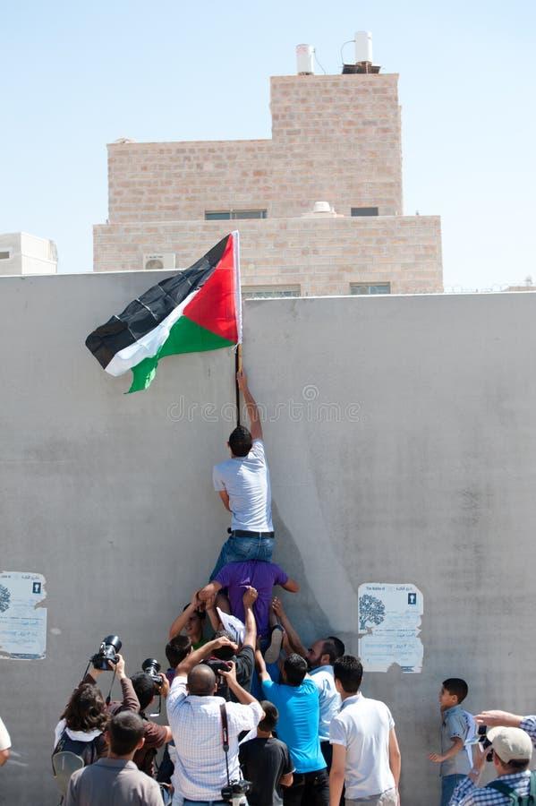 De Demonstratie van de anti-muur, al-Walaja royalty-vrije stock foto