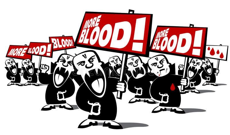 De demonstratie van de vampiermensen van het protest royalty-vrije stock afbeeldingen