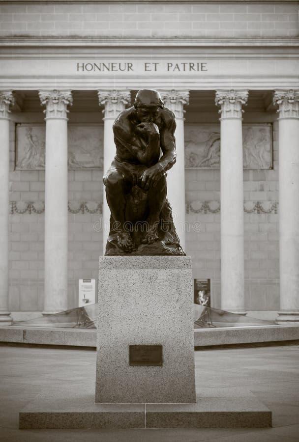 De denker door Rodin royalty-vrije stock fotografie