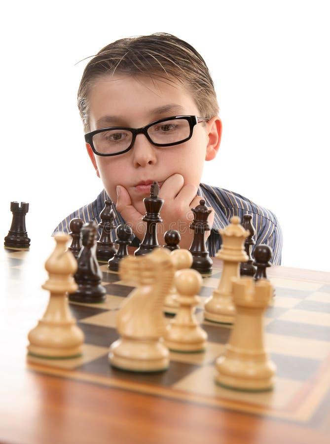 De denker van het schaak royalty-vrije stock afbeelding
