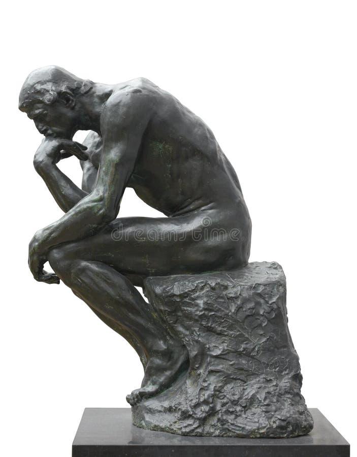 Download De Denker Van Rodin, Depressie Stock Afbeelding - Afbeelding bestaande uit meesterwerk, achtergrond: 29509909