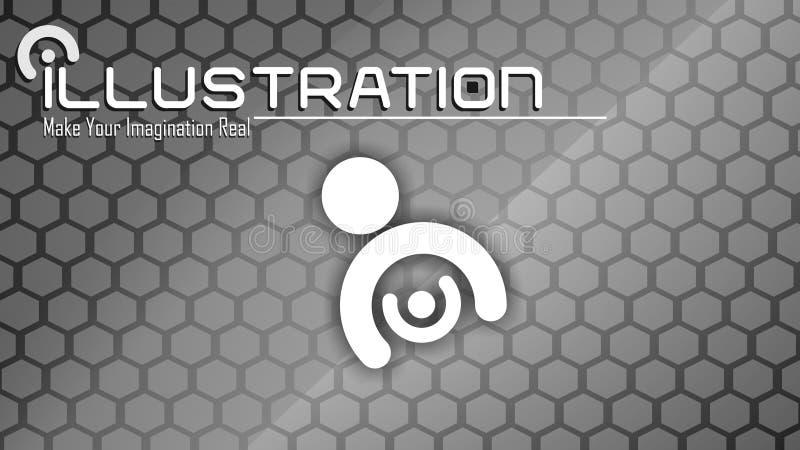 De Desktop van het illustratiebehang stock fotografie