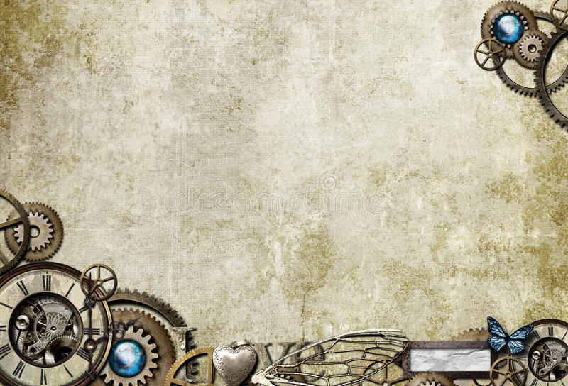 De Desktop van Steampunk stock afbeeldingen