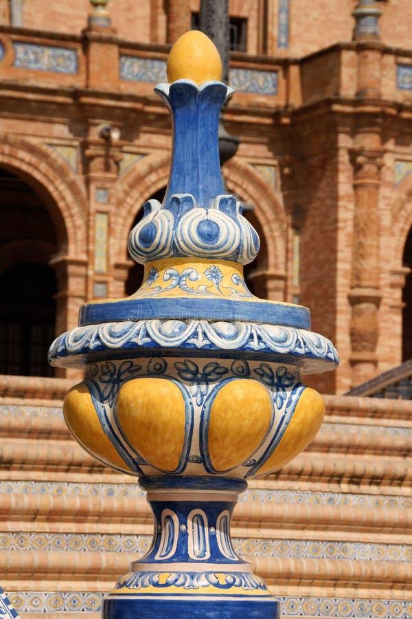 de detail西班牙广场塞维利亚西班牙 库存照片