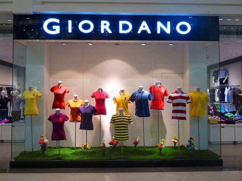 De Detailhandel van Giordano Clothing royalty-vrije stock foto's