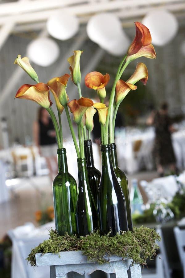 De details en de decoratie van het huwelijk stock fotografie