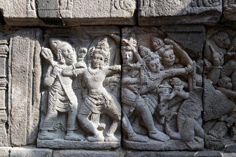 De details van de Prambanantempel stock fotografie