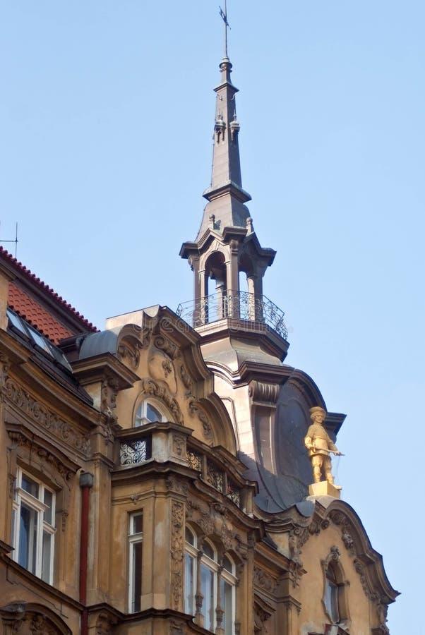 De details van de straatdecoratie Praag, Tsjechische Republiek royalty-vrije stock afbeeldingen