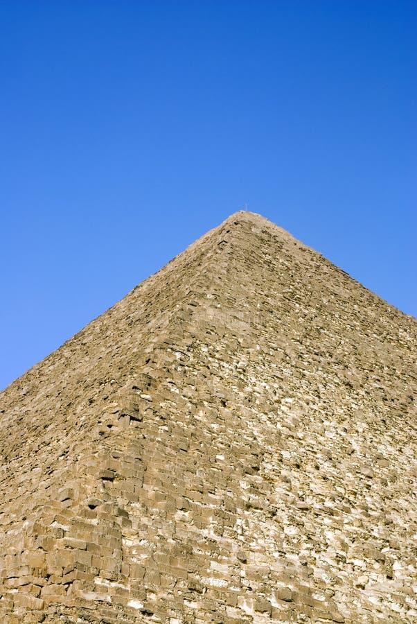 De detailsclose-up van de piramide van giza, cario, Egypte stock foto's