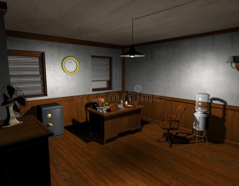 De detectivebureau van de film noir royalty-vrije illustratie