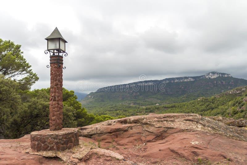 仅仅de deu de la Roca,西班牙 库存图片