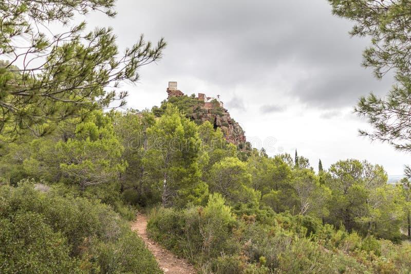 仅仅de deu de la Roca,西班牙 库存照片