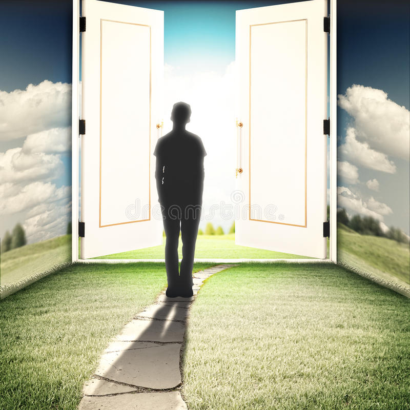 De deur aan een andere wereld royalty-vrije stock afbeelding