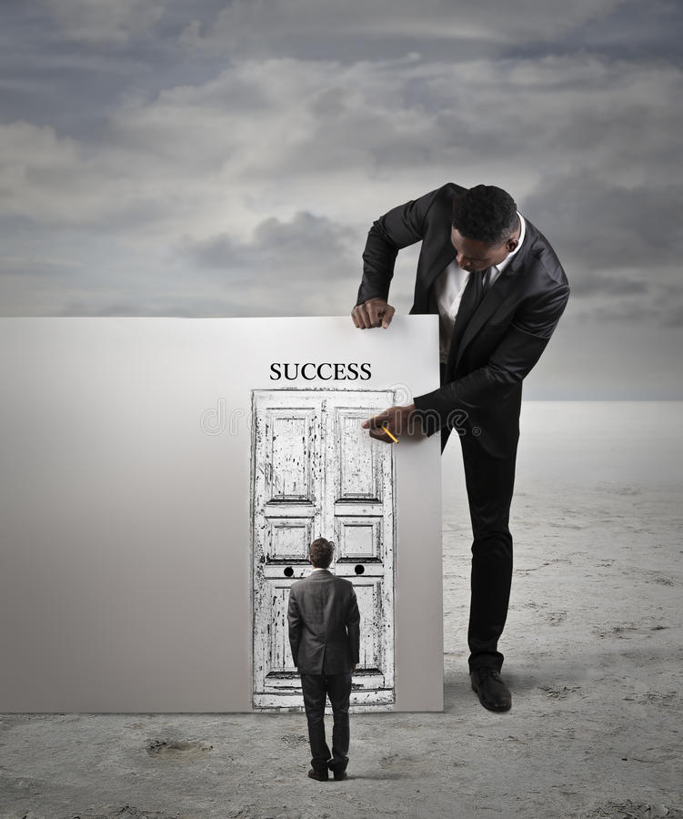 De deur aan succes stock fotografie