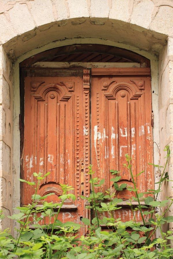 De deur in Shusha-stad stock afbeelding
