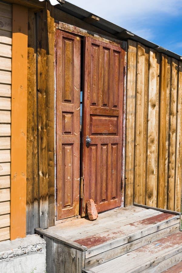 De deur sluit slechts baksteen royalty-vrije stock afbeelding