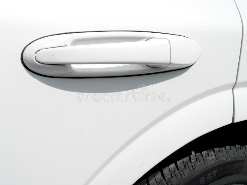 De Deur van de auto met Handvat stock afbeeldingen