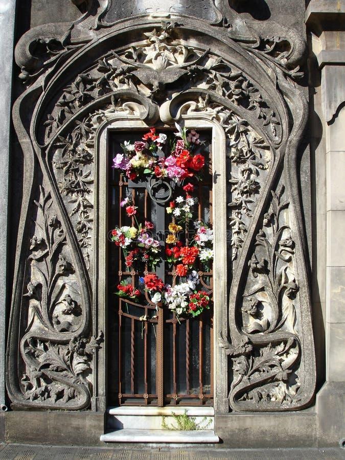 De Deur van de begraafplaats stock afbeelding
