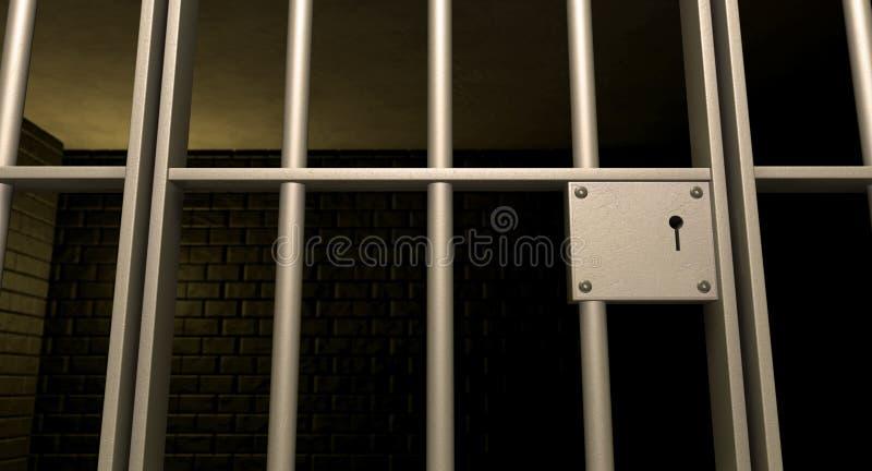 De Deur van de Cel van de gevangenis sloot Voorzijde royalty-vrije illustratie