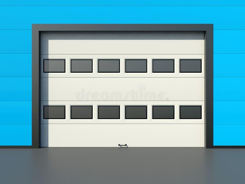 De deur van de garagedeur met vensters royalty-vrije illustratie