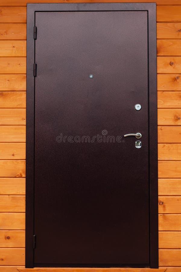 De deur van de huisingang stock fotografie