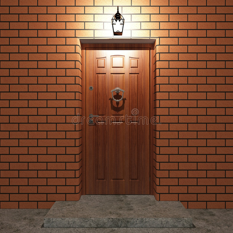 De deur van de ingang stock illustratie