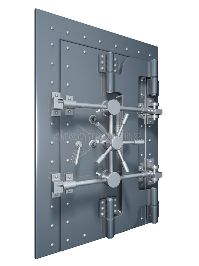 De deur van de kluis stock illustratie