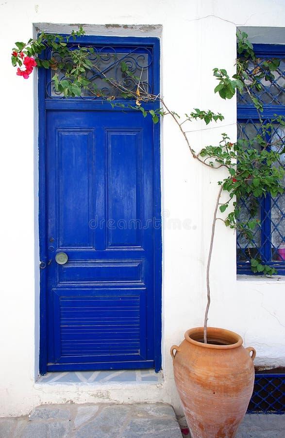 De deur van Griekenland royalty-vrije stock fotografie
